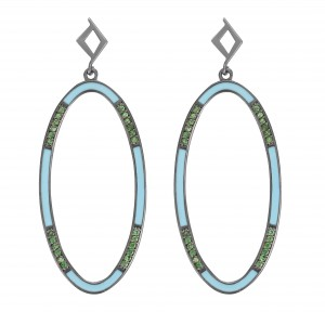 Ellipse Earrings Turq.