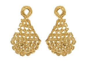 Lace_Morgana Earrings yellow_136euro
